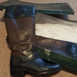 Ralph Lauren Wide Calf Leather Riding Boots